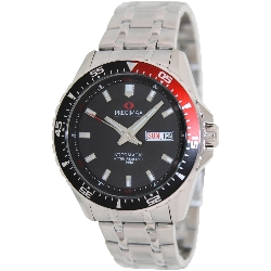 PRECIMAX Men's Vintage Automatic PX13204 Silver Stainless-Steel Automatic Watch with Black Dial