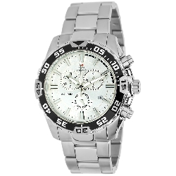 Swiss Precimax Men's Formula-7 Pro SP12059 Silver Stainless-Steel Swiss Chronograph Watch with Silver Dial