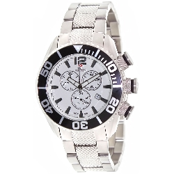 Swiss Precimax Men's Deep Blue Pro II SP12160 Silver Stainless-Steel Swiss Chronograph Watch with White Dial