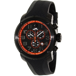 Swiss Precimax Men's Marauder Pro Sport SP13007 Black Rubber Swiss Chronograph Watch with Black Dial
