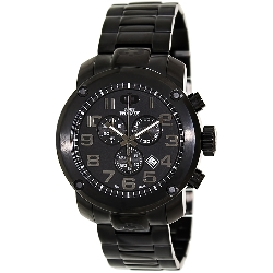 Swiss Precimax Men's Marauder Pro SP13014 Black Stainless-Steel Swiss Chronograph Watch with Black Dial