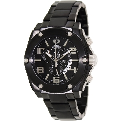 Swiss Precimax Men's Admiral Pro SP13022 Black Stainless-Steel Swiss Chronograph Watch with Black Dial
