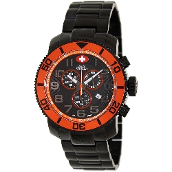 Swiss Precimax Men's Verto Pro SP13034 Black Stainless-Steel Swiss Chronograph Watch with Black Dial