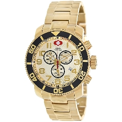 Swiss Precimax Men's Verto Pro SP13041 Gold Stainless-Steel Swiss Chronograph Watch with Gold Dial
