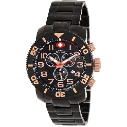 Swiss Precimax Men's Verto Pro SP13043 Black Stainless-Steel Swiss Chronograph Watch with Black Dial