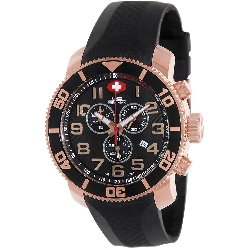 Swiss Precimax Men's Verto Pro Sport SP13045 Black Rubber Swiss Chronograph Watch with Black Dial