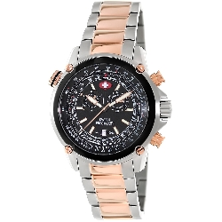 Swiss Precimax Men's Squadron Pro SP13080 Two-Tone Stainless-Steel Swiss Chronograph Watch with Black Dial