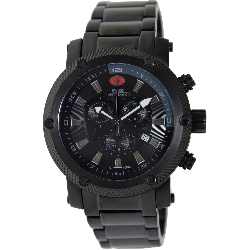 Swiss Precimax Men's Volt Pro SP13086 Black Stainless-Steel Swiss Chronograph Watch with Black Dial