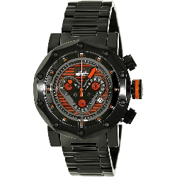 Swiss Precimax Men's Vector Pro SP13092 Black Stainless-Steel Swiss Chronograph Watch with Black Dial