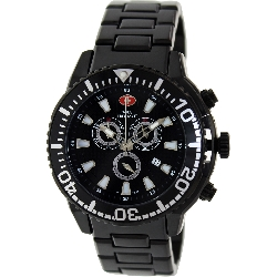 Swiss Precimax Men's Pulse Pro SP13105 Black Stainless-Steel Swiss Chronograph Watch with Black Dial