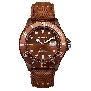 InTimes Mens Leather IT-057LDBRN Watch