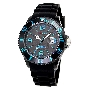 InTimes Unisex Silicon IT-057SBLU Watch