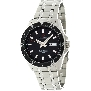 Precimax Men's Vintage Automatic PX12094 Silver Stainless-Steel Automatic Watch With Black Dial