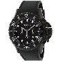 Precimax Men's Carbon Pro Sport PX12207 Black Polyurethane Quartz Watch With Black Dial