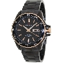 PRECIMAX Men's Propel Automatic PX13197 Black Stainless-Steel Automatic Watch With Black Dial