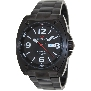 PRECIMAX Men's Fortis Automatic PX13207 Black Stainless-Steel Automatic Watch With Black Dial