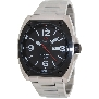 PRECIMAX Men's Fortis Automatic PX13209 Silver Stainless-Steel Automatic Watch With Black Dial