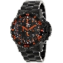 Precimax Men's Carbon Pro PX13232 Black Stainless-Steel Quartz Watch With Black Dial