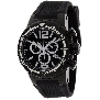 Swiss Precimax Men's Titan Elite SP12035 Black Silicone Swiss Chronograph Watch With Black Dial