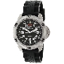 Swiss Precimax Men's SuperNova SP12110 Black Polyurethane Swiss Quartz Watch With Black Dial