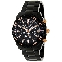 Swiss Precimax Men's Formula-7 Pro SP12152 Black Stainless-Steel Swiss Chronograph Watch With Black Dial