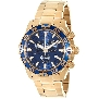 Swiss Precimax Men's Formula-7 Pro SP12153 Gold Stainless-Steel Swiss Chronograph Watch With Blue Dial