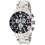 Swiss Precimax Men's Deep Blue Pro II SP12159 Silver Stainless-Steel Swiss Chronograph Watch With Black Dial