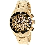 Swiss Precimax Men's Deep Blue Pro II SP12169 Gold Stainless-Steel Swiss Chronograph Watch With Gold Dial