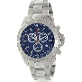Swiss Precimax Men's Maritime Pro SP12192 Silver Stainless-Steel Swiss Chronograph Watch With Blue Dial