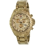 Swiss Precimax Men's Maritime Pro SP12194 Gold Stainless-Steel Swiss Chronograph Watch With Gold Dial
