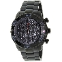 Swiss Precimax Men's Valor Elite SP12208 Black Stainless-Steel Swiss Chronograph Watch With Grey Dial