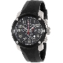 Swiss Precimax Men's Marauder Pro Sport SP13003 Black Rubber Swiss Chronograph Watch With Black Dial