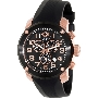 Swiss Precimax Men's Marauder Pro Sport SP13008 Black Rubber Swiss Chronograph Watch With Black Dial