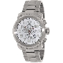 Swiss Precimax Men's Marauder Pro SP13010 Silver Stainless-Steel Swiss Chronograph Watch With White Dial