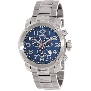 Swiss Precimax Men's Marauder Pro SP13011 Silver Stainless-Steel Swiss Chronograph Watch With Blue Dial