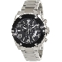 Swiss Precimax Men's Admiral Pro SP13027 Silver Stainless-Steel Swiss Chronograph Watch With Black Dial