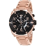 Swiss Precimax Men's Admiral Pro SP13028 Rose-Gold Stainless-Steel Swiss Chronograph Watch With Black Dial