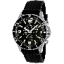 Swiss Precimax Men's Tarsis Pro SP13056 Black Rubber Swiss Chronograph Watch With Black Dial
