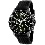 Swiss Precimax Men's Tarsis Pro SP13059 Black Rubber Swiss Chronograph Watch With Black Dial