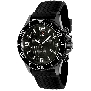 Swiss Precimax Men's Tarsis Pro SP13060 Black Rubber Swiss Chronograph Watch With Black Dial