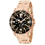 Swiss Precimax Men's Tarsis Pro SP13066 Rose-Gold Stainless-Steel Swiss Chronograph Watch With Black Dial