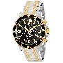 Swiss Precimax Men's Tarsis Pro SP13069 Two-Tone Stainless-Steel Swiss Chronograph Watch With Black Dial