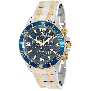 Swiss Precimax Men's Tarsis Pro SP13070 Two-Tone Stainless-Steel Swiss Chronograph Watch With Blue Dial