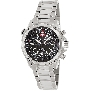 Swiss Precimax Men's Squadron Pro SP13073 Silver Stainless-Steel Swiss Chronograph Watch With Black Dial