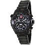 Swiss Precimax Men's Squadron Pro SP13076 Black Stainless-Steel Swiss Chronograph Watch With Black Dial