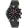Swiss Precimax Men's Falcon Pro SP13108 Black Stainless-Steel Swiss Chronograph Watch With Black Dial