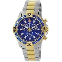 Swiss Precimax Men's Falcon Pro SP13111 Two-Tone Stainless-Steel Swiss Chronograph Watch With Blue Dial