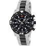 Swiss Precimax Men's Falcon Pro SP13113 Two-Tone Stainless-Steel Swiss Chronograph Watch With Black Dial