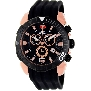 Swiss Precimax Men's Recon Pro Sport SP13117 Black Polyurethane Swiss Chronograph Watch With Black Dial