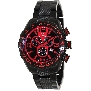 Swiss Precimax Men's Deep Blue Pro III SP13125 Black Stainless-Steel Swiss Chronograph Watch With Red Dial
